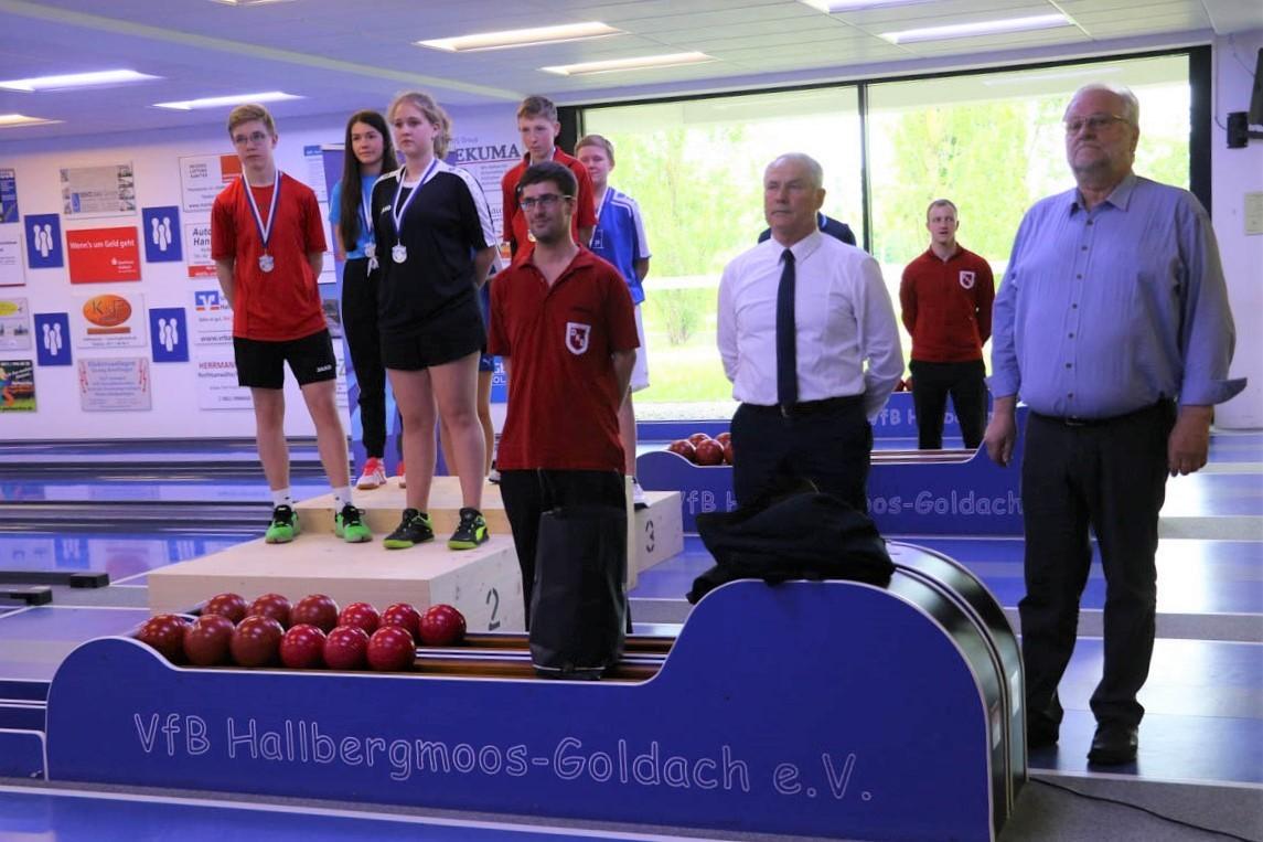Siegerehrung bei den bayerischen Meisterschaften der U14