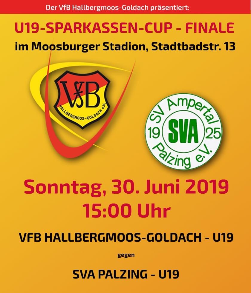 U 19 bittet um Unterstützung beim Finalspiel im Sparkassen-Cup
