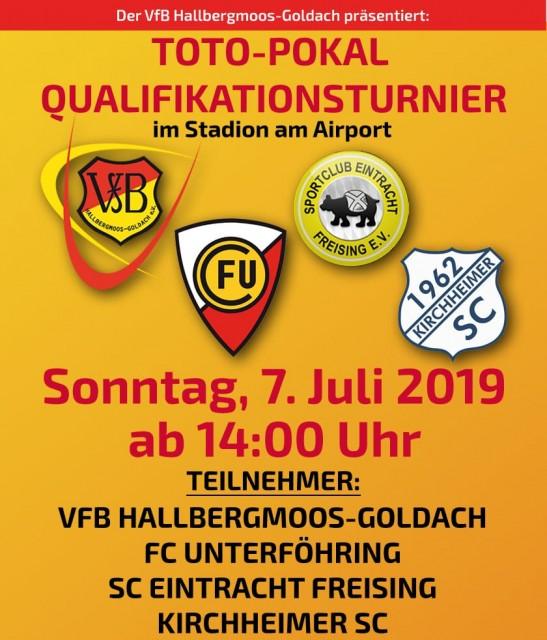 VfBH Hallbergmoos ist Gastgeber beim  Blitzturnier für den Toto Pokal