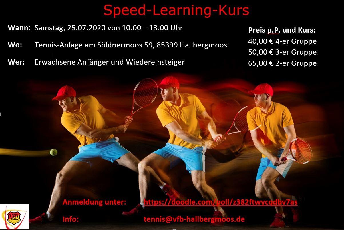 Tennis Speed-Learning-Kurs 25.07.2020
