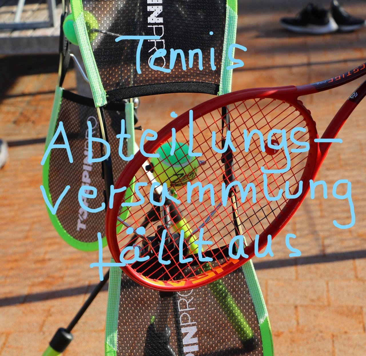 Tennisabteilungsversammlung fällt wegen steigender Coronazahlen aus