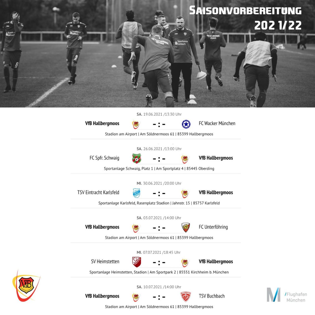 Die Saisonvorbereitungsspiele unseres Bayernligisten