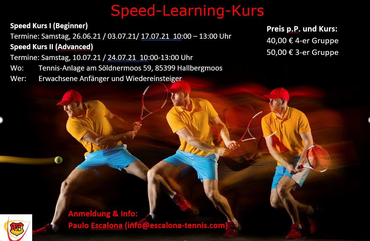 Tennis Speed-Kurse 2021